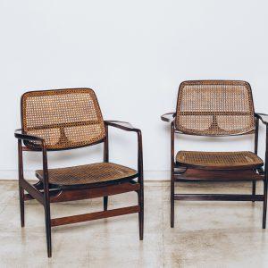 Cadeira Oscar-Sergio Rodrigues-Jacaranda-palhinha Natural 1