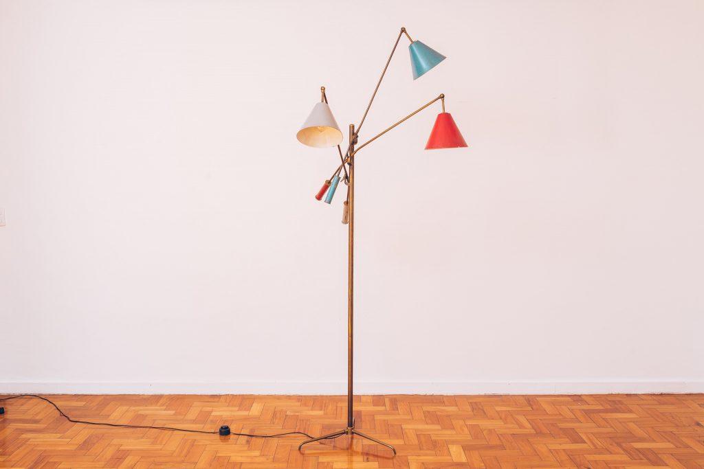 Luminária Triennale - Angelo Lelli - 2 - Pé Palito Vintage