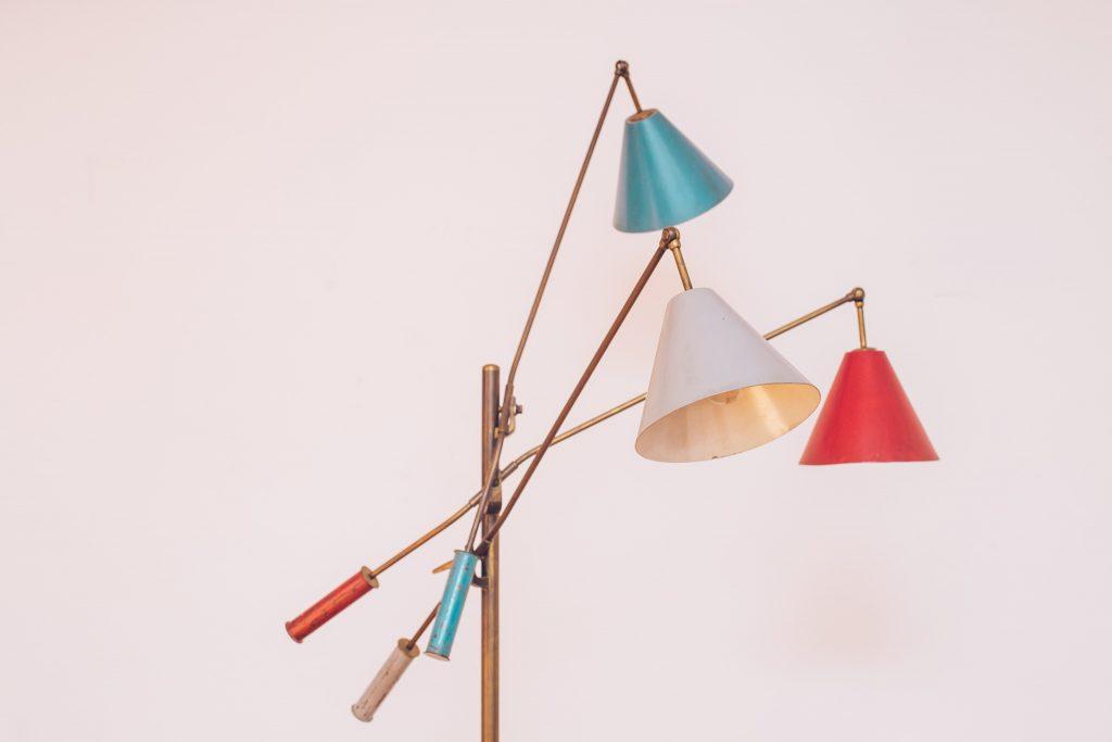Luminária Triennale - Angelo Lelli - 3 - Pé Palito Vintage