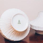 Vasos Alemães Heinrich & Co - Adornos Cerâmica Original de Época - Alemães 2 - pé palito vintage