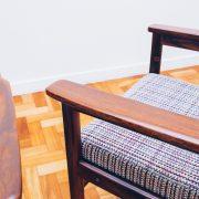 Cadeira Tião com Braços 5 - Sergio Rodrigues - Jacarandá - Pé Palito Vintage