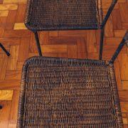 Cadeiras de Junco 5 - Originais de Época - Pé Palito Vintage