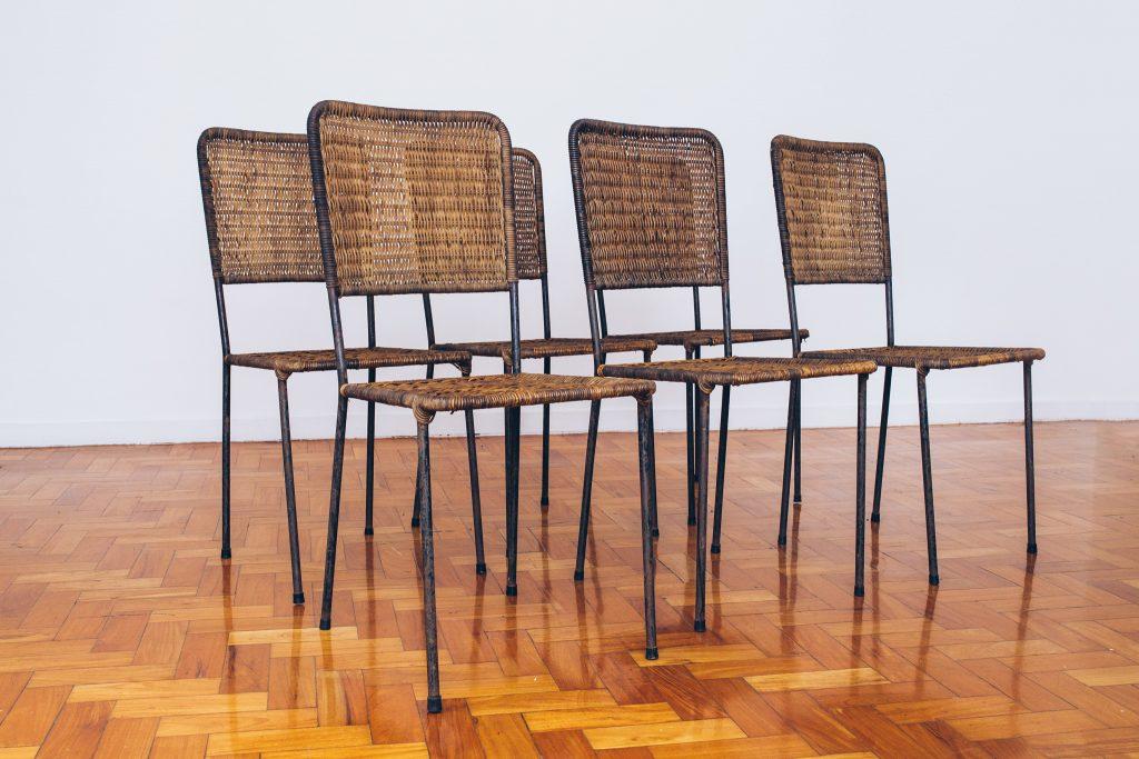 Cadeiras de Junco - Originais de Época 1 - Pé Palito Vintage