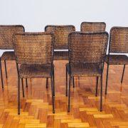 Cadeiras de Junco - Originais de Época 2 - Pé Palito Vintage