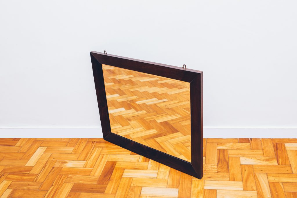 Espelho Retangular Jacarandá - Brasil Anos 60 - 3 - Pé palito Vintage