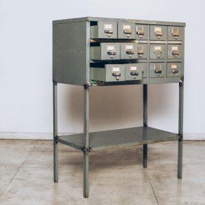 Arquivo Ficheiro Alto Decor Industrial Studio 1 - Pé Palito Vintage