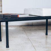 Banco com mesa de apoio Original de Época 3 - Anos 60 - Pé Palito Vintage