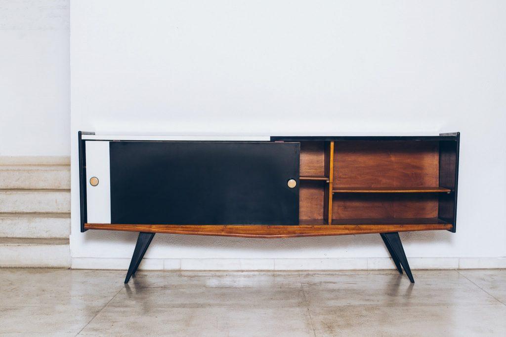 Buffet Fórmica Bicolor 3 - Anos 50 - Pé Palito Vintage