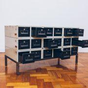 Gaveteiro Archive Decor Industrial 2 - Pé Palito Vintage