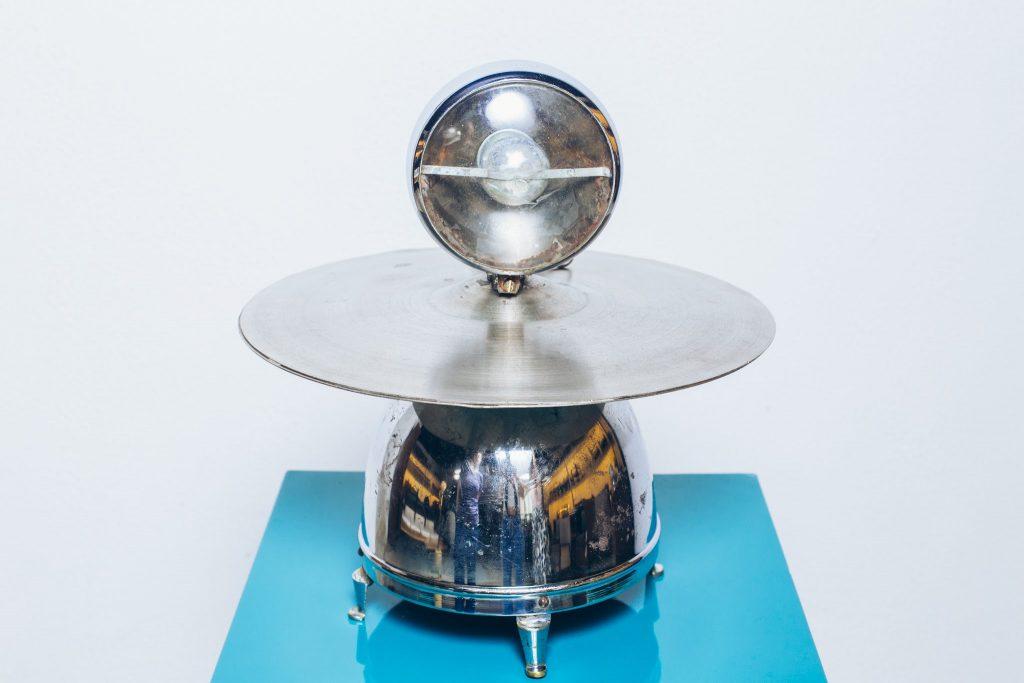 Luminária Industrial Jetsons Anos 60 - 1 - Pé Palito Vintage