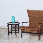 Mesa Auxiliar Maracanã - Scapinelli Anos 50 - Tampo de Mármore 2 - Pé Palito Vintage