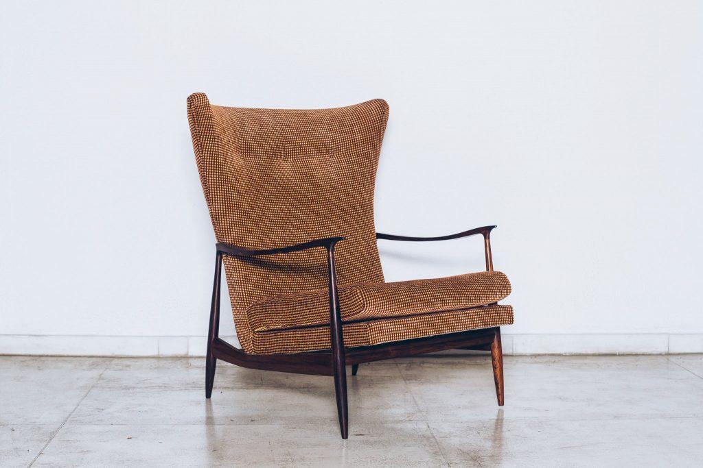Poltrona Jacarandá Móveis CIMO Anos 60 - 1 - Pé Palito Vintage