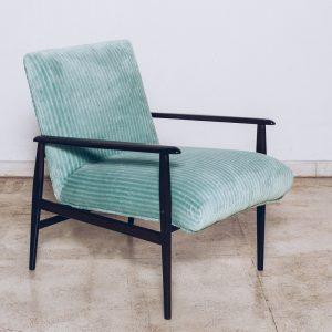 Poltrona Jacarandá Veludo Celadon Green - Pé Palito Vintage
