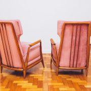 Poltrona Jacarandá Veludo Scapinelli 2 Anos 50 -60 - Pé Palito Vintage