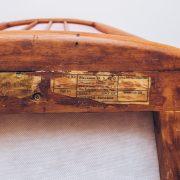 Poltrona Jacarandá Veludo Scapinelli 4A Anos 50 -60 - Pé Palito Vintage