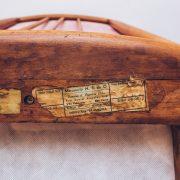 Poltrona Jacarandá Veludo Scapinelli 4B Anos 50 -60 - Pé Palito Vintage