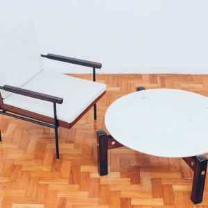 Mesa Auxiliar Latini II Sérgio Rodrigues – 1 - Pé Palito Vintage