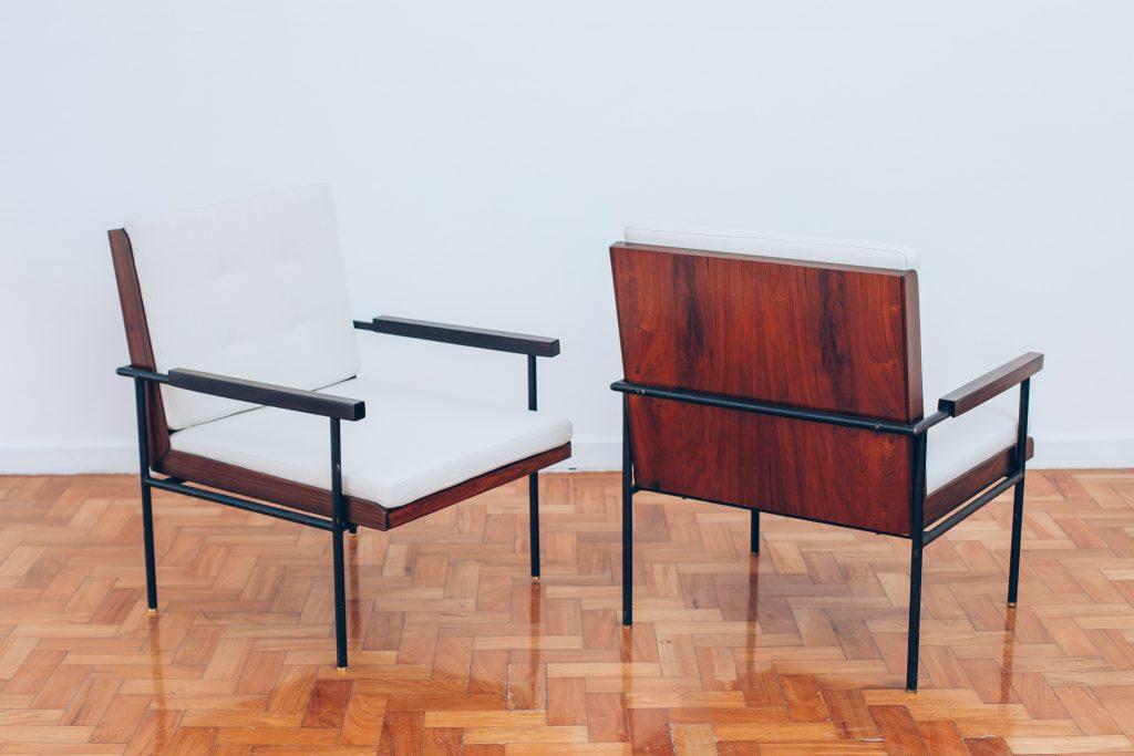 Poltrona Geraldo de Barros Unilabor - 1 - original Déc.60 - Pé Palito Vintage