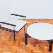 Poltrona Geraldo de Barros Unilabor - 3 - original Déc.60 - Pé Palito Vintage