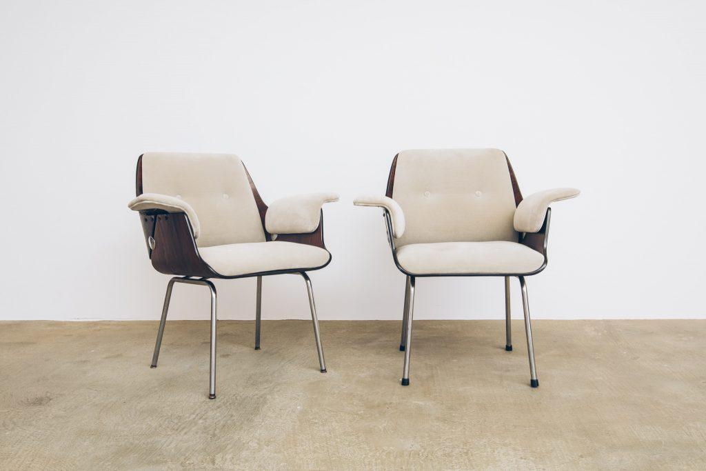 Cadeira Probjeto Jacarandá - 1 - Pé Palito Vintage