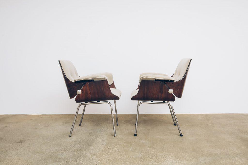 Cadeira Probjeto Jacarandá - 2 - Pé Palito Vintage