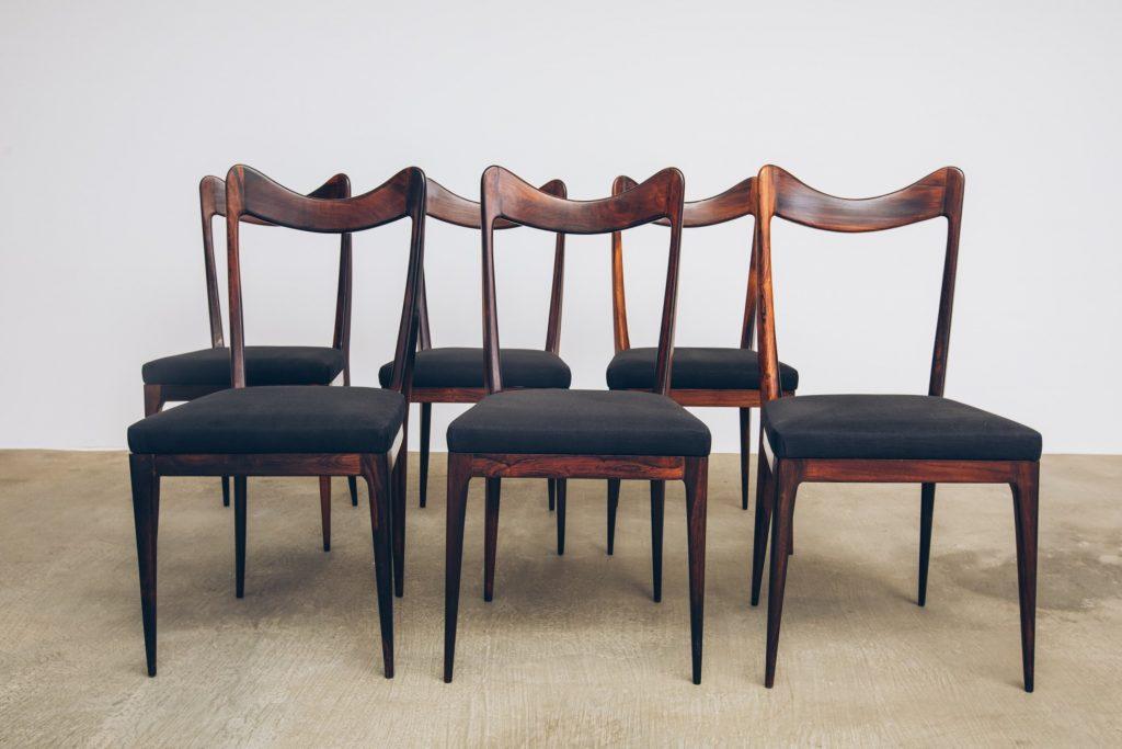 Cadeiras de Jantar Jacarandá Anos 50 - 1 - Pé Palito Vintage