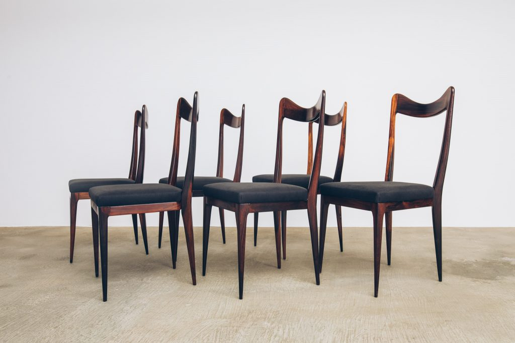 Cadeiras de Jantar Jacarandá Anos 50 - 2 - Pé Palito Vintage
