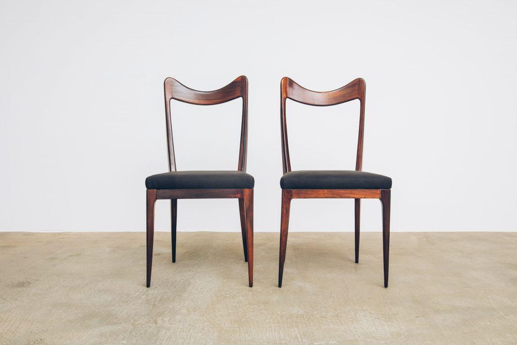 Cadeiras de Jantar Jacarandá Anos 50 - 3 - Pé Palito Vintage