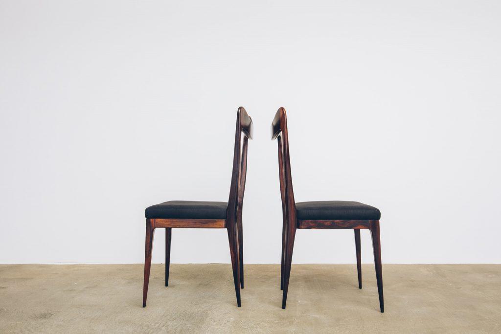 Cadeiras de Jantar Jacarandá Anos 50 - 4 - Pé Palito Vintage