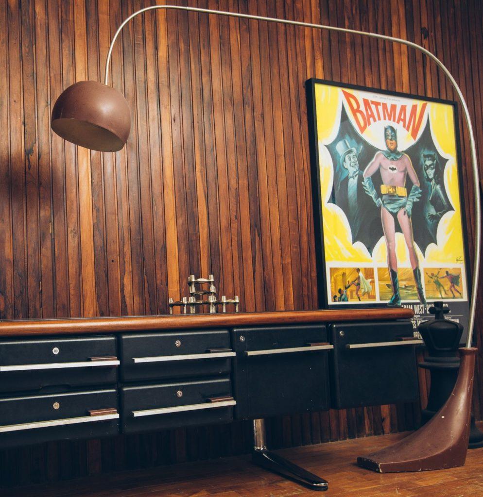 Luminária Anos 70 - 1 - Pé Palito Vintage