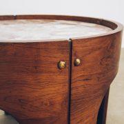 Mesa Jacarandá com Mármore Side Table 3 - Pé Palito Vintage