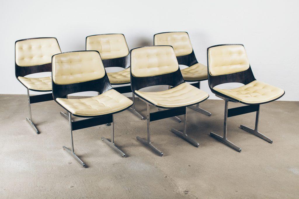 Cadeira L'Atelier 1A - Pé Palito Vintage