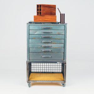 Gaveteiro Industrial Oficina - 1 - Pé Palito Vintage