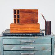 Gaveteiro Industrial Oficina - 3 - Pé Palito Vintage