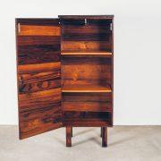 Módulo Componível Vertical B - Jorge Zalszupin Jacarandá - 4 - Pé Palito Vintage