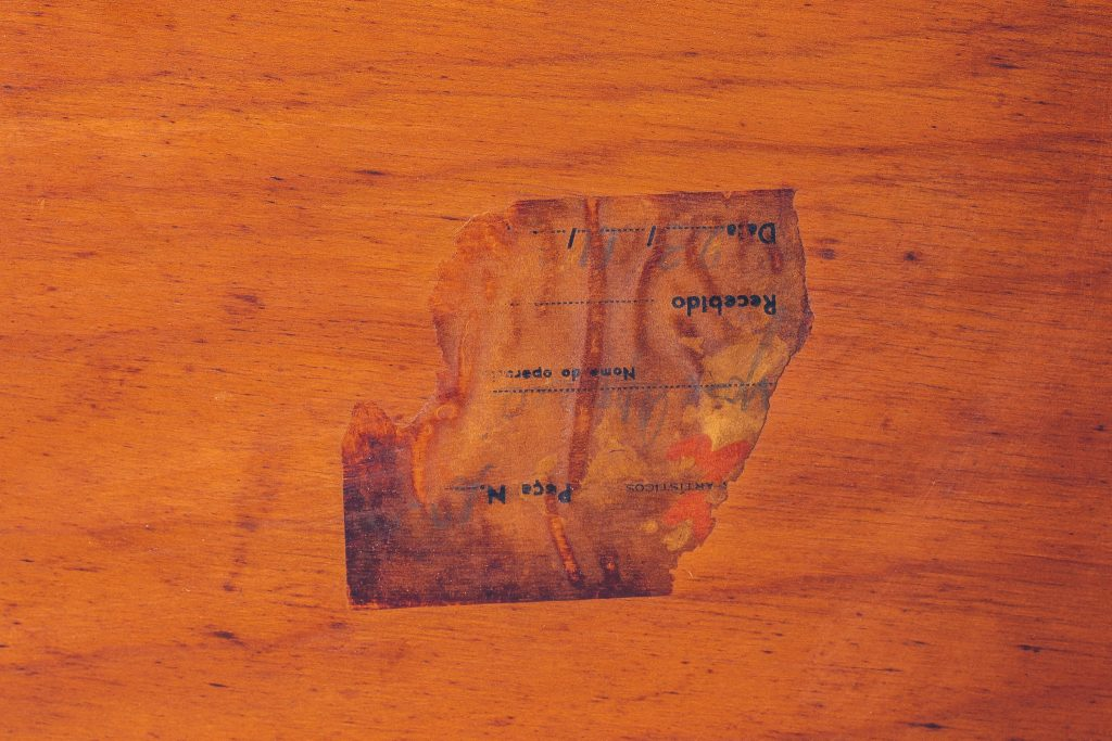Escrivaninha José Zanine Caldas - Infantil - com selo de fabricação - 5 - Pé Palito Vintage