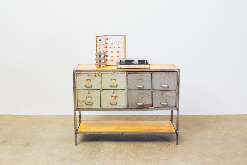 Gaveteiro Archive Industrial II - 1 - Pé Palito Vintage