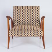 Poltrona Caviúna Anos 50 - 4 - Pé Palito Vintage