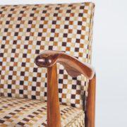 Poltrona Caviúna Anos 50 - 5 - Pé Palito Vintage