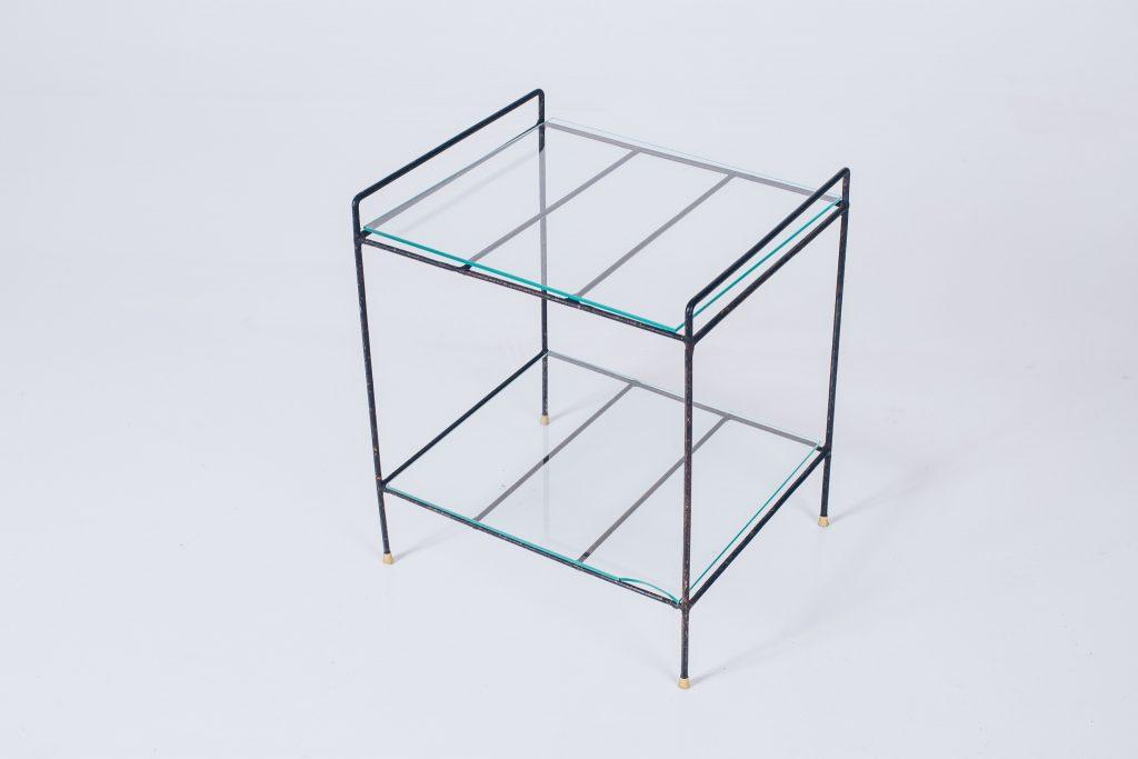 Side Table Metal Brazil Modern - 1 - Pé Palito Vintage